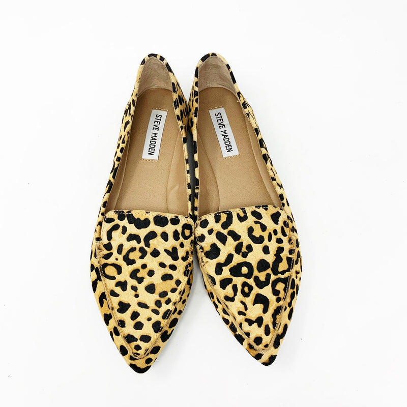 Steve Madden Feather Loafer Flat - Leopard, size 9