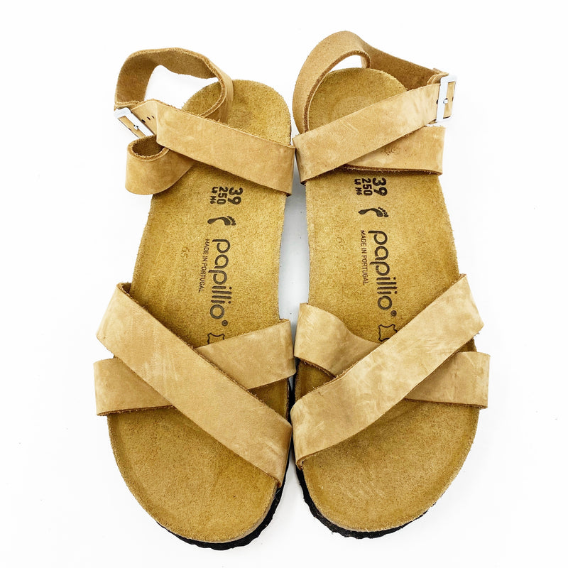 Papillio by Birkenstock Lola Wedge Sandal, Sand size 39 Narrow