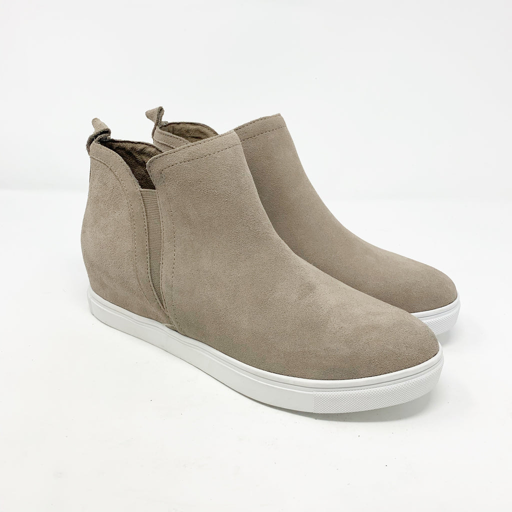Blondo Georgette Sneaker Bootie, Taupe size 8.5