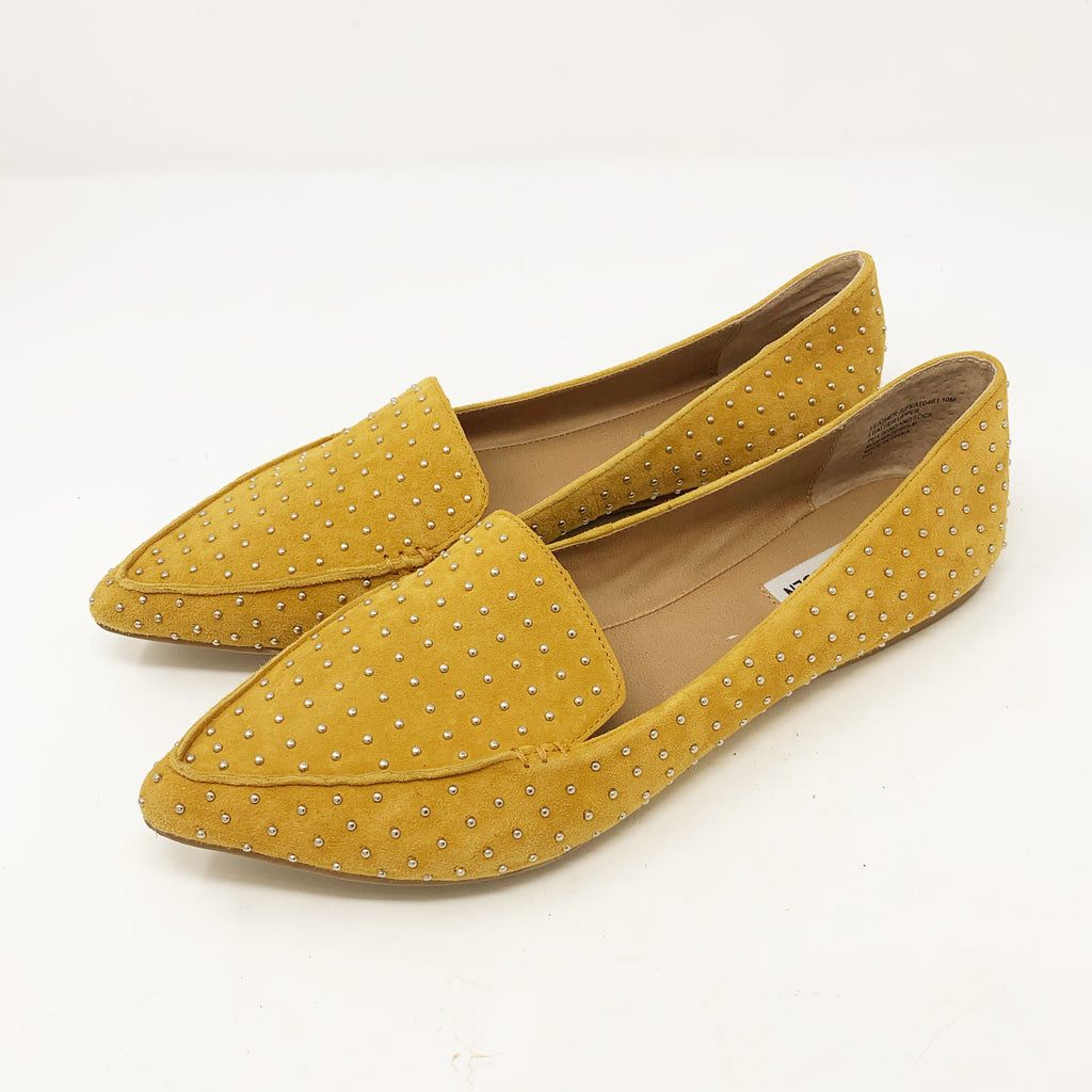 Steve Madden Feather-S Flat, Mustard size 10