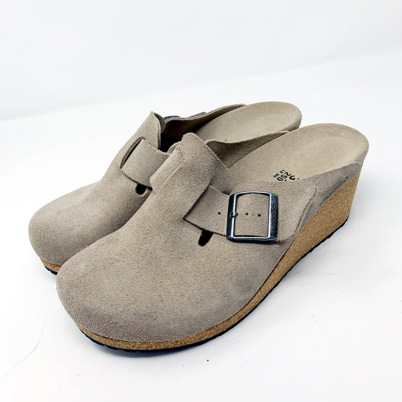 Papillio by Birkenstock Fanny Buckle Clog, Taupe size 39N