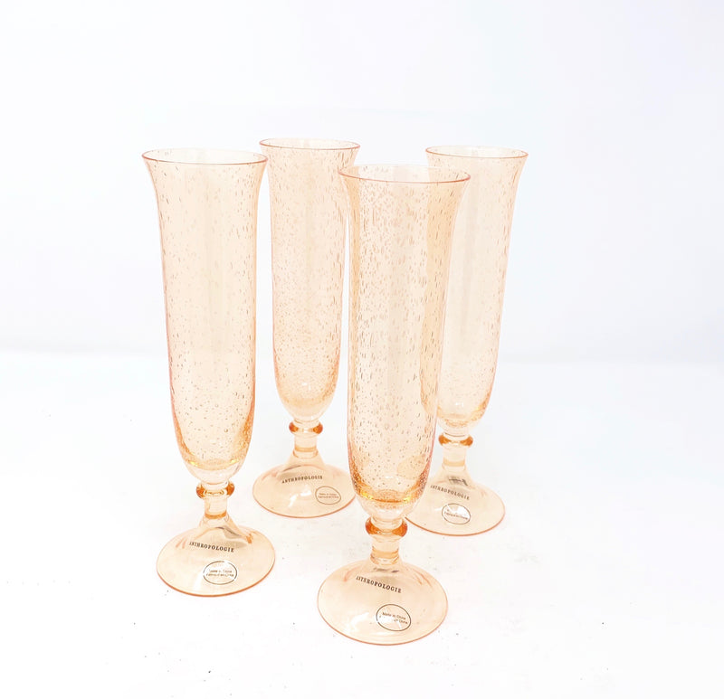 Anthropologie Carra Champagne Flute, set of 6