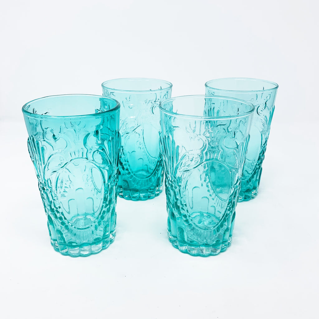 Anthropologie Sadie Tumbler Set of 4, Teal