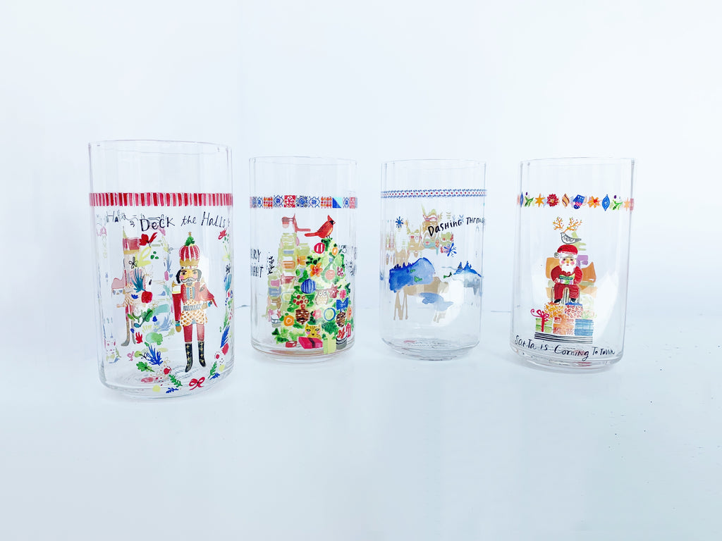 Anthropologie August Wren Kris Kringle Juice Glass