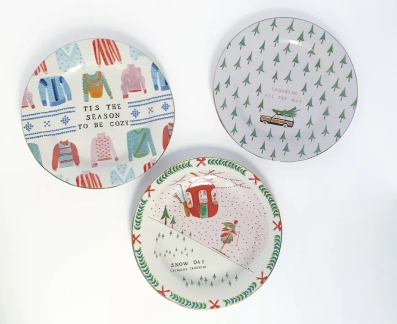 Anthropologie Mr. Boddington Merry Dessert Plate