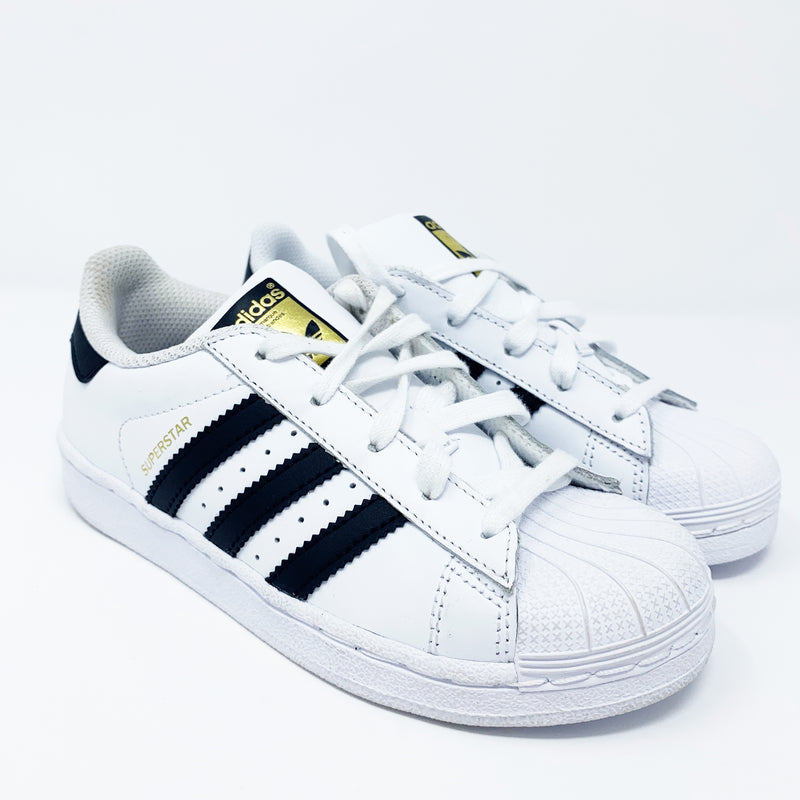 Adidas Superstar Sneaker, White Little Kid 13