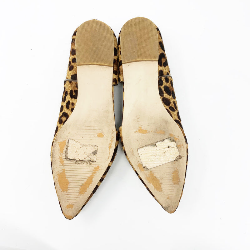 Steve Madden Hensley Pointed Toe Flat, Leopard size 8