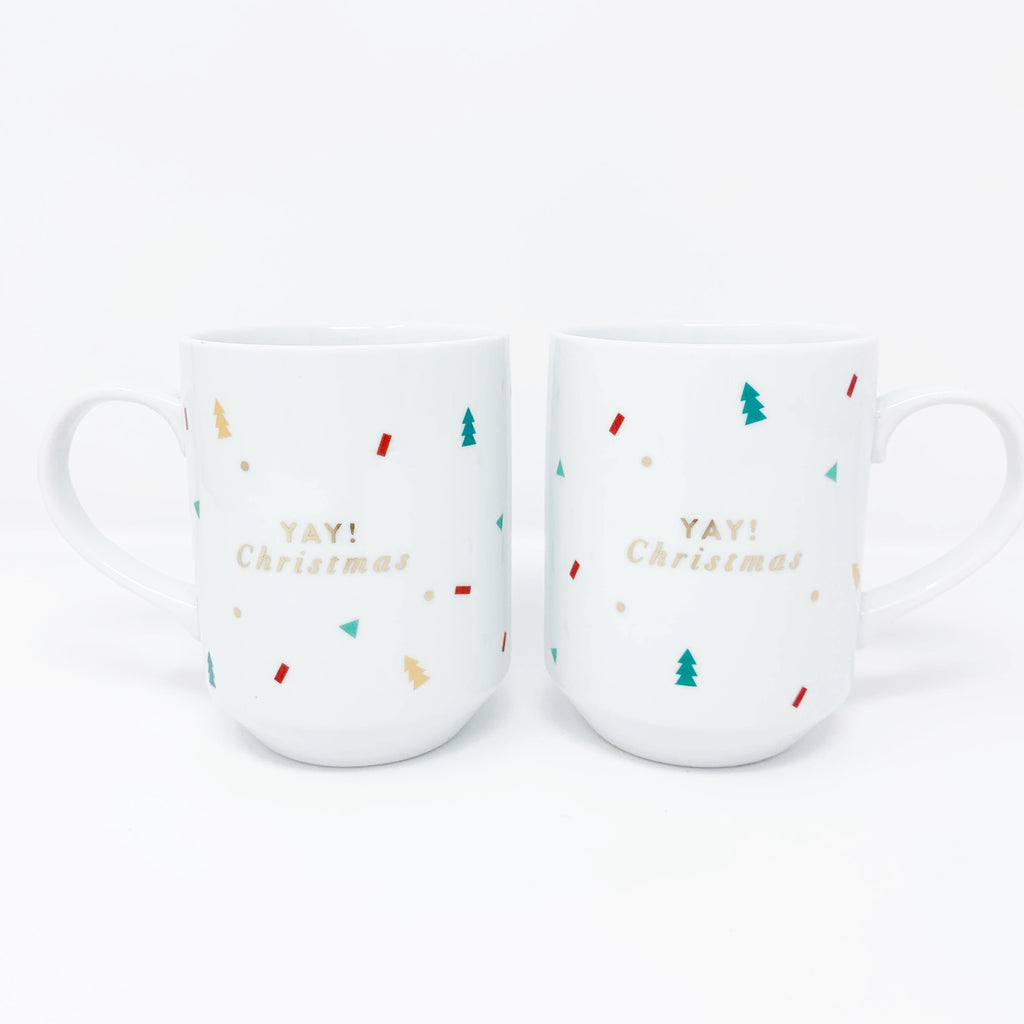 "Fringe Studio  ""Yay Christmas""  Mug Set"