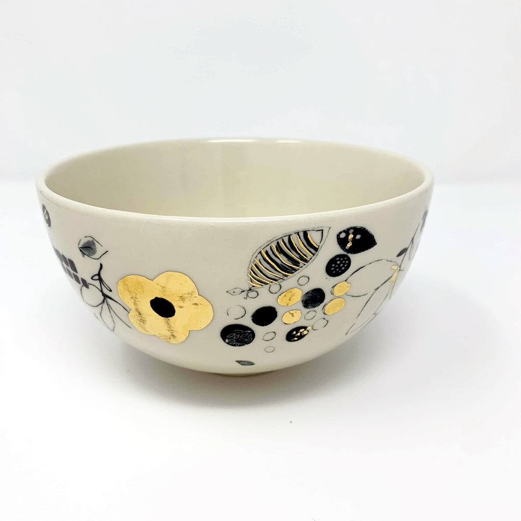 Anthropologie Lauren Wan Floral Vine Bowl
