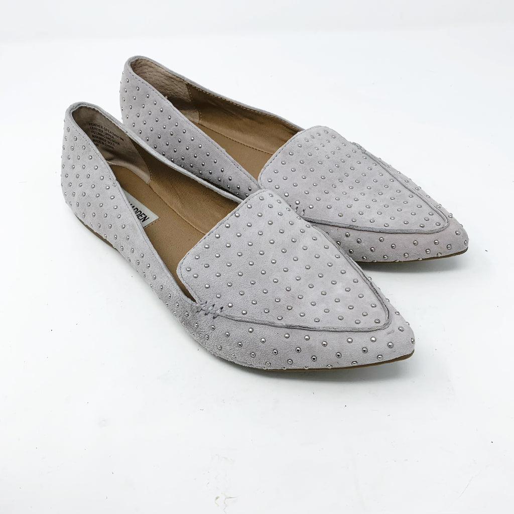 Steve Madden Feather-S Flat, Gray size 9