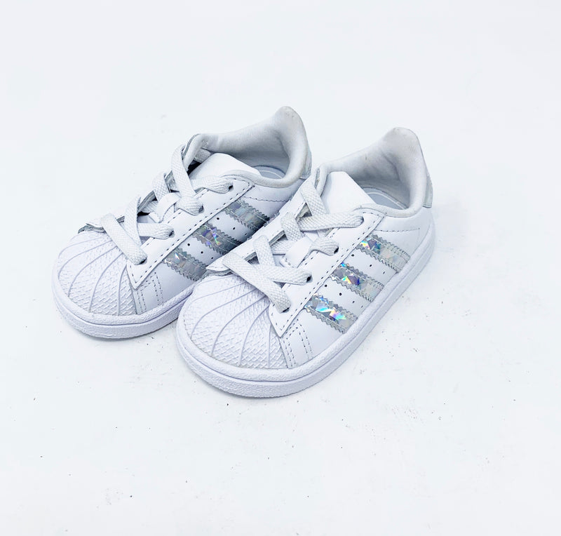Adidas Superstar Metallic Sneaker, Walker size 5