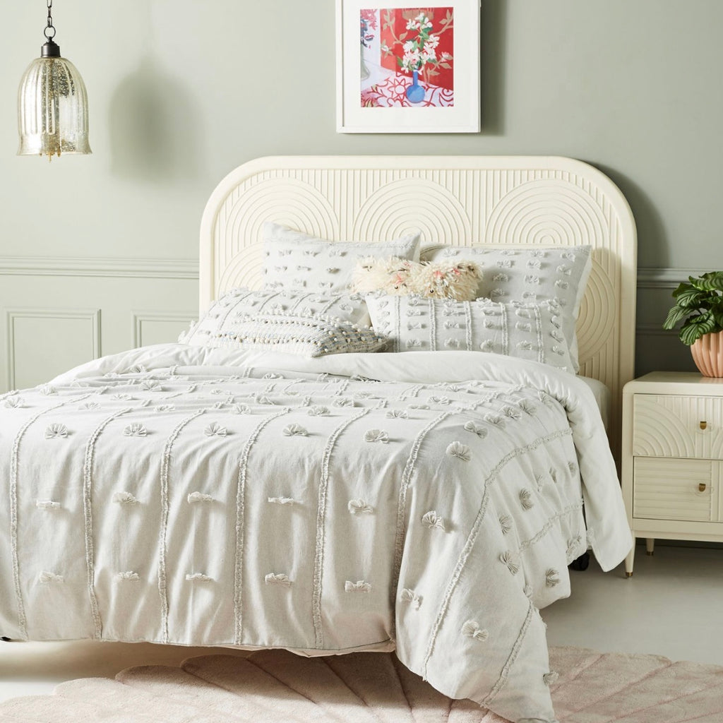 Anthropologie Embellished Tilly Duvet Cover, Queen