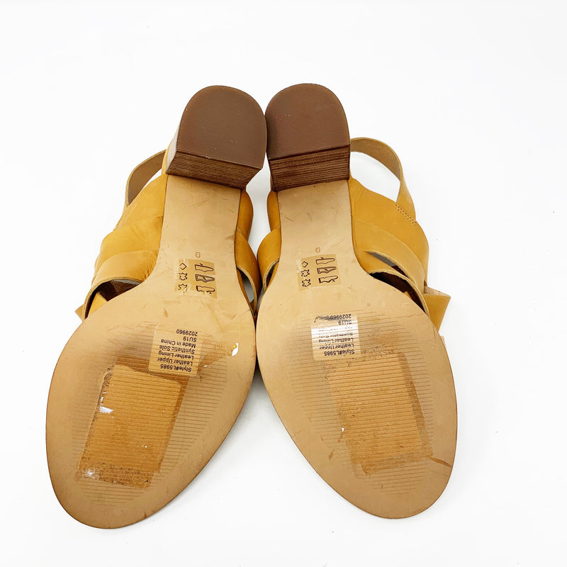 Madewell Cindy Sandal, Camel Leather size 9