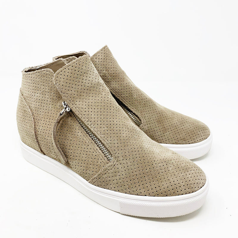 Steve Madden Caliber High Top Sneaker, Taupe size 8