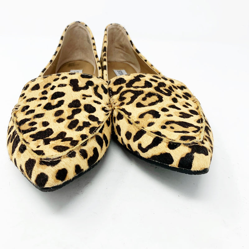 Steve Madden Feather Loafer Flat, Leopard size 7