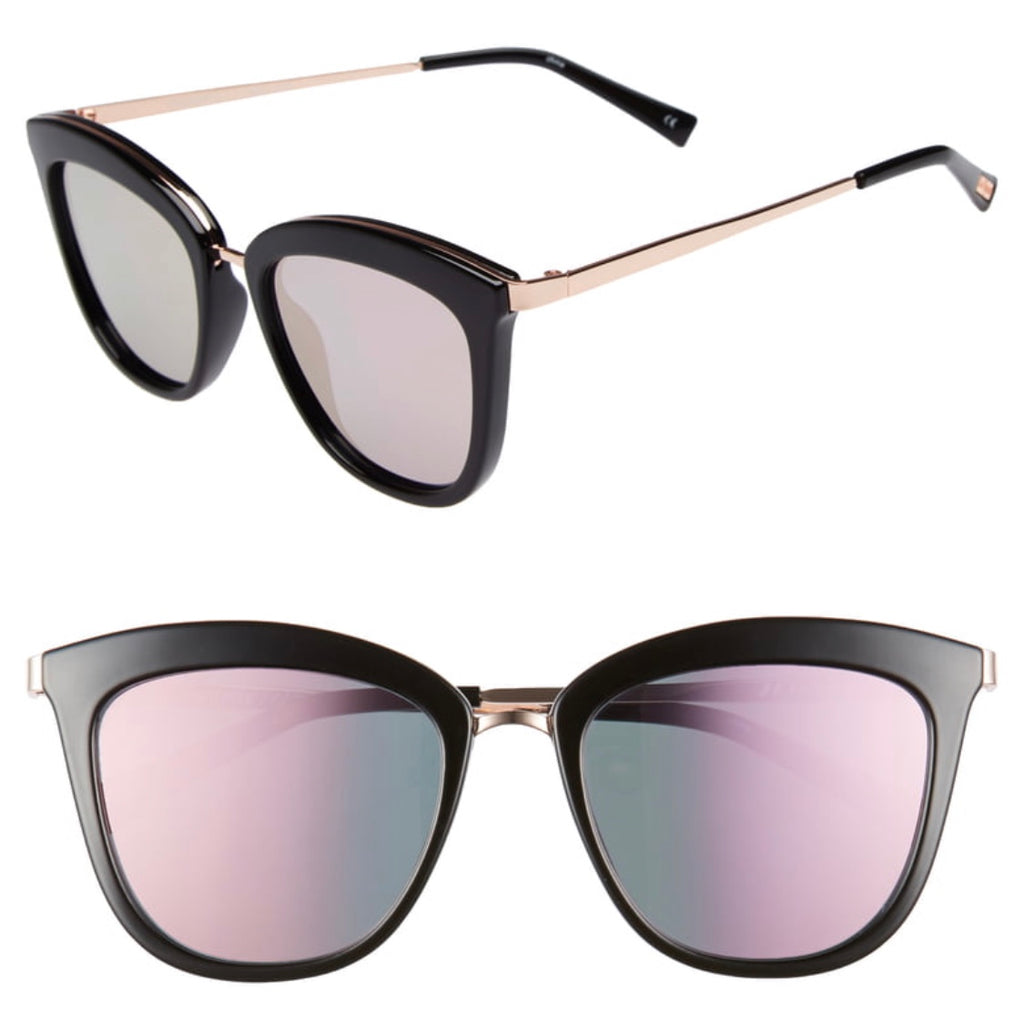 Le Specs Caliente Cat Eye Sunglasses, Black