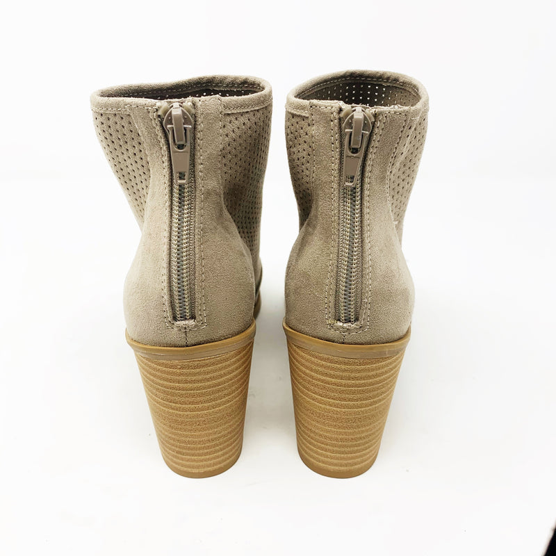 Abound Perforated Peep Toe Bootie, Taupe size 8.5