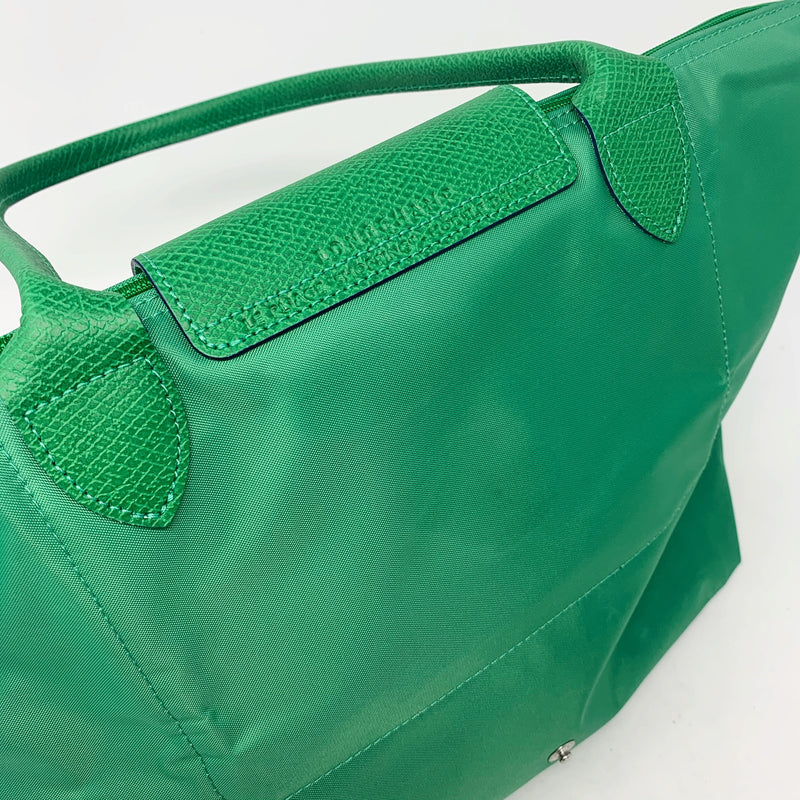 Longchamp Le Pliage Small Club Shoulder Tote, Cactus Green