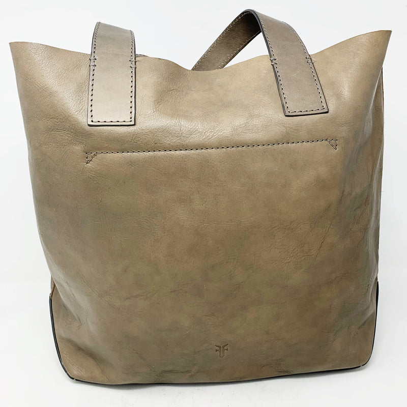 Frye Carson Leather Tote, Gray