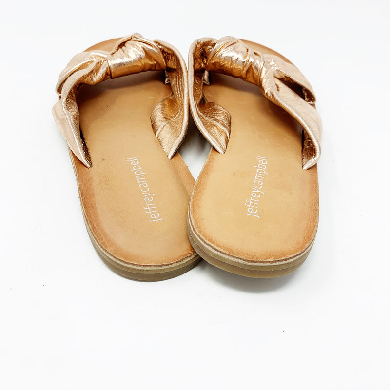 Jeffrey Campbell Zocalo Slide Sandal, Rose Gold size 9