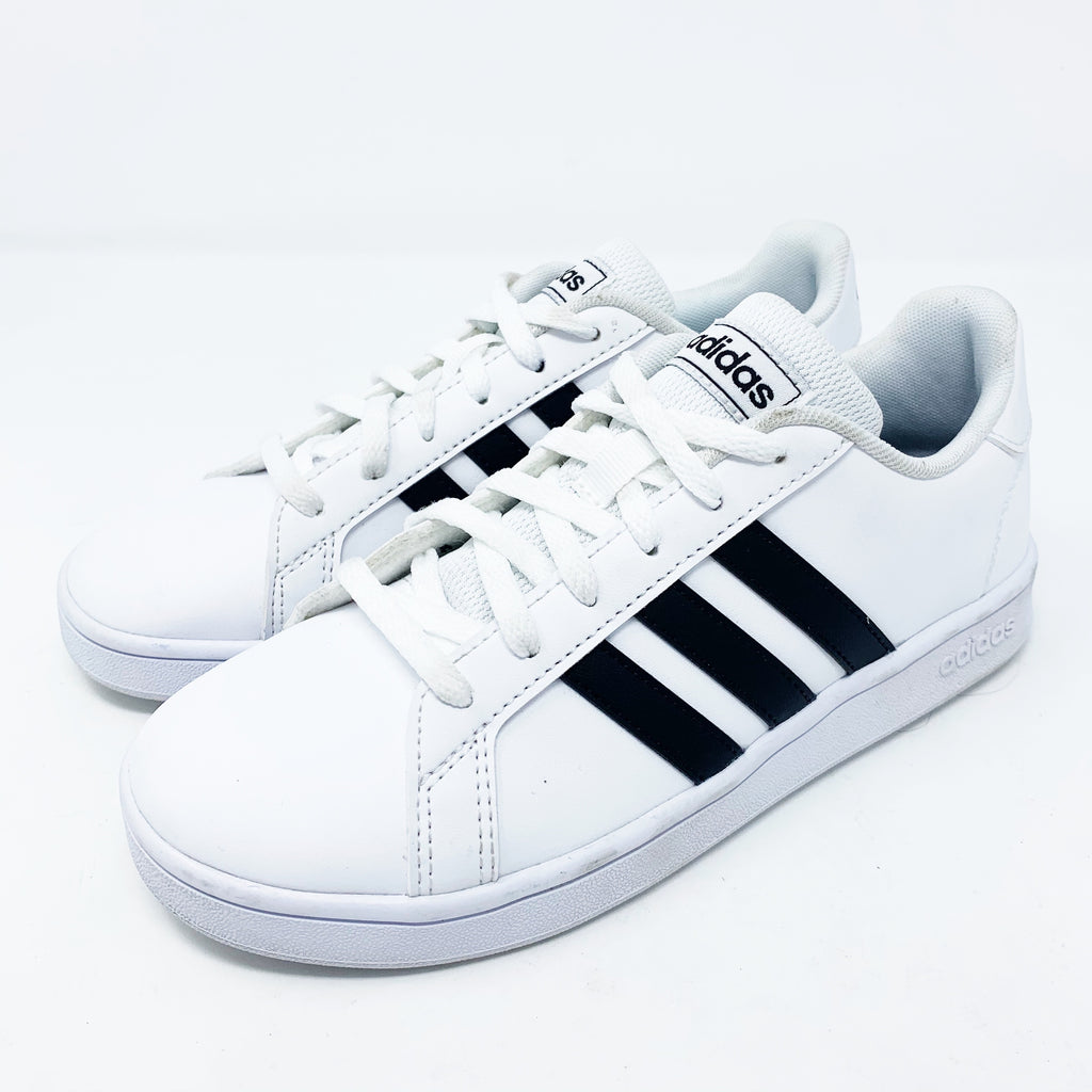 Adidas Grand Court Sneakers, White Big Kid 3