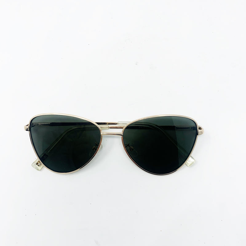 Le Specs Echo Butterfly Sunglasses, Gold
