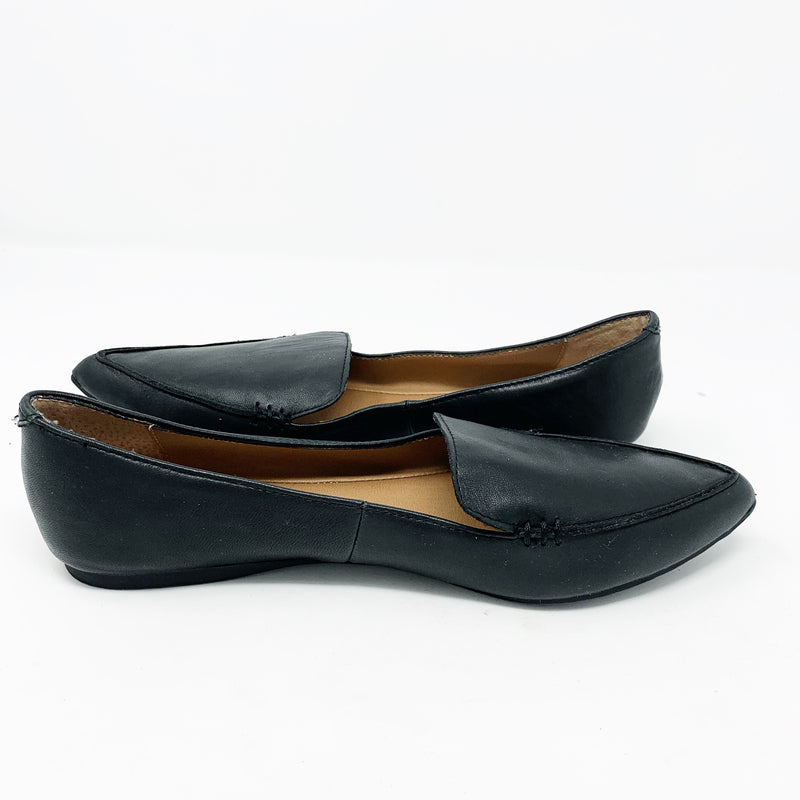 Steve Madden Feather-S Flat, Black size 7.5