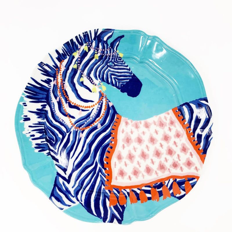 Anthropologie Paige Gemmel Eastern Animal Dessert Plate, Zebra