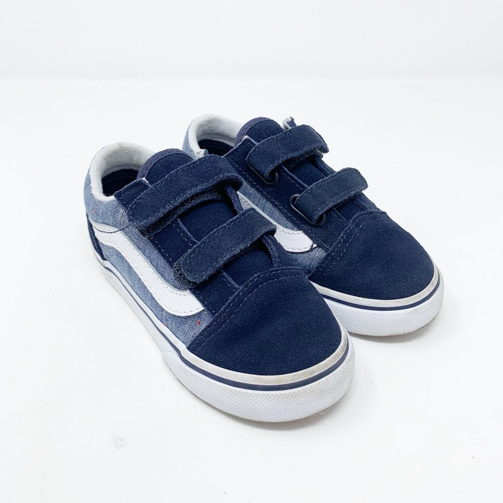 Vans Old Skool V Sneaker, Toddler 9 Chambray Navy