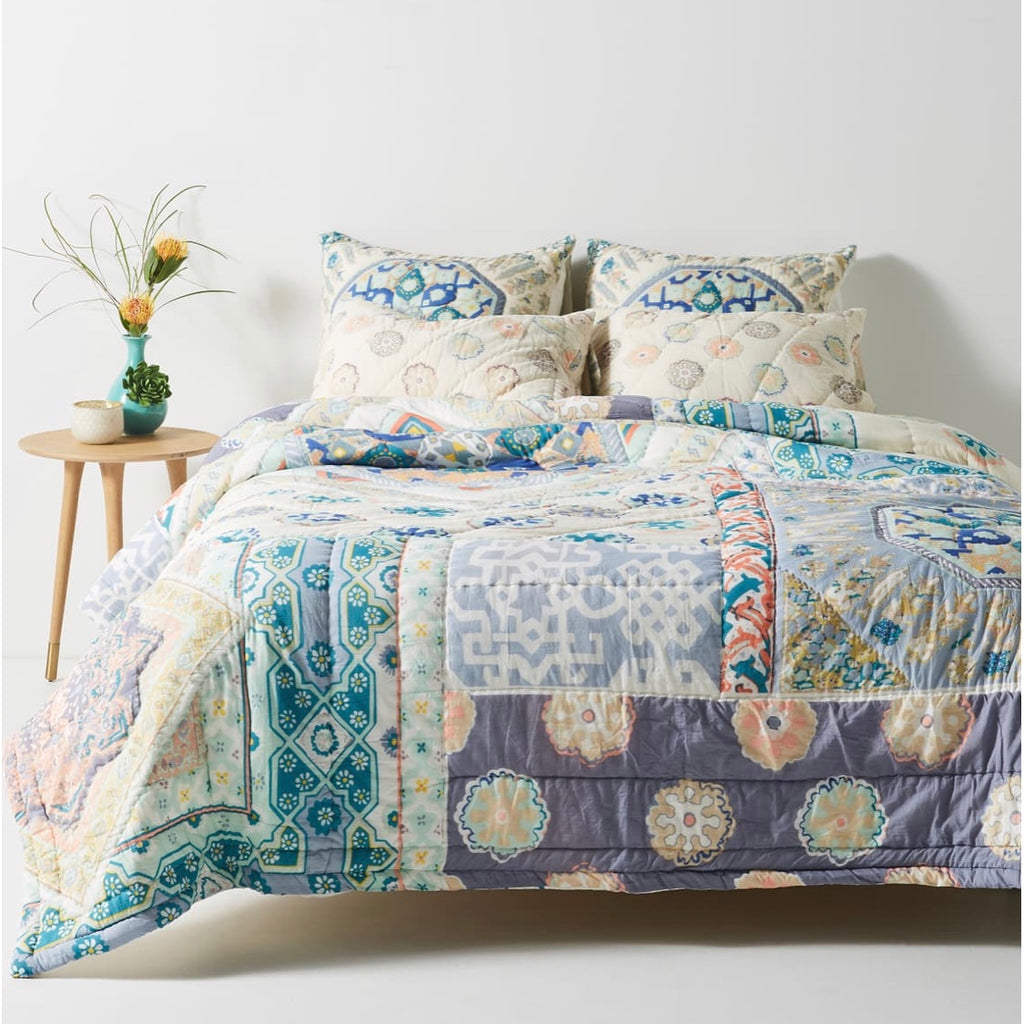 Anthropologie Ponsonby Queen Quilt