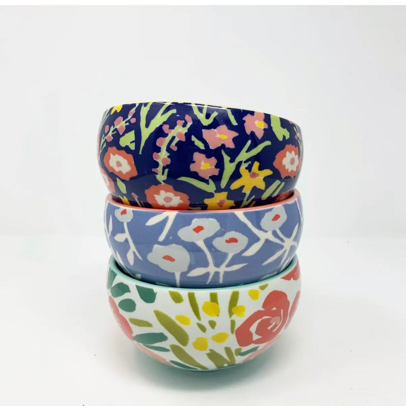 Leah Goren for Anthropologie, Painted Poppies Cereal Bowl