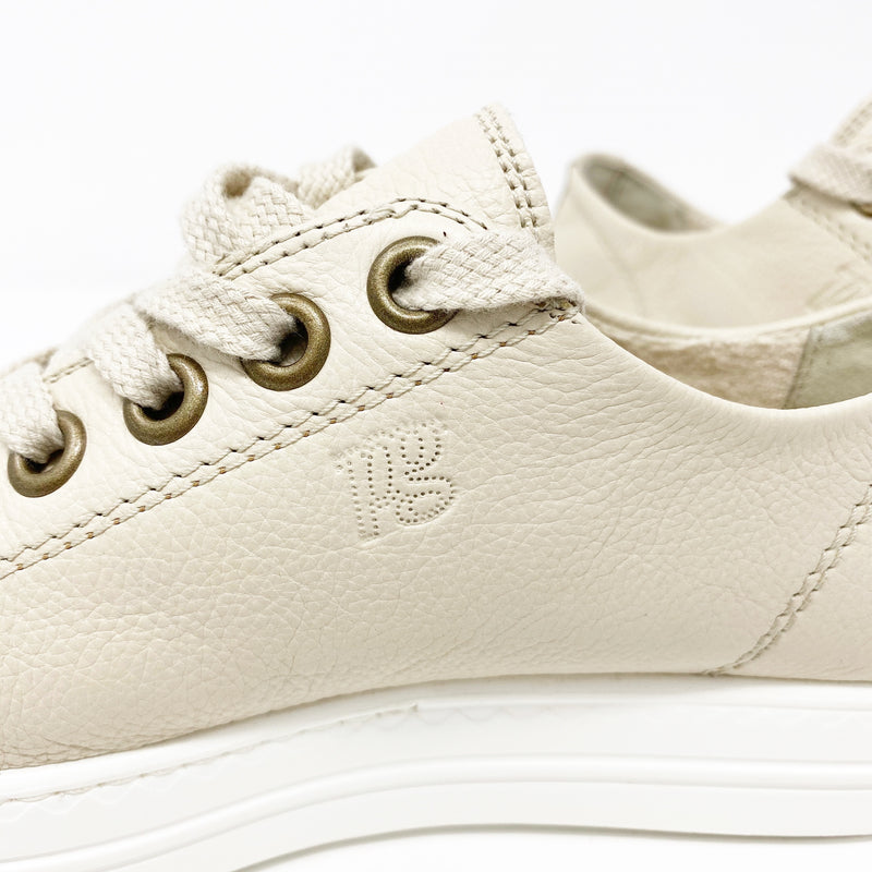 Paul Green Ally Low Top Sneaker, Cream Leather size UK 5, US 7.5