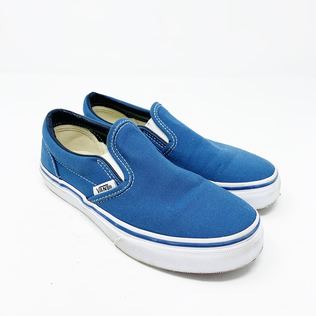Vans Classic Asher Slip-on Sneaker, Blue Big Kid 2