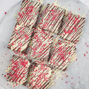 Load image into Gallery viewer, Raspberry White Chocolate Brownie