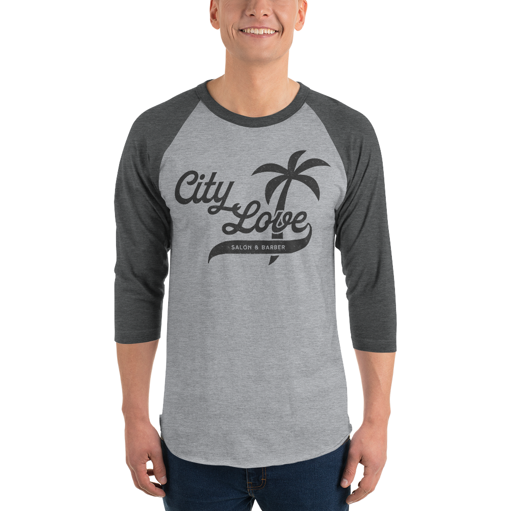 City Love Vibe 3/4 sleeve raglan shirt