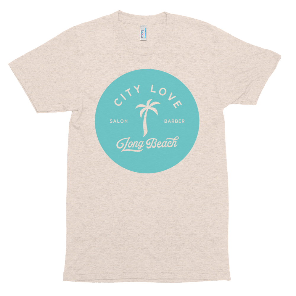 City Love - Palm Tee - Tri-Blend Track Shirt