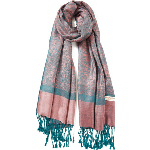 Two Toned Pashmina Silk Scarves - Dazzled Jewels
