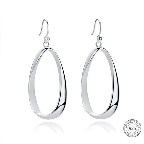 Sterling Silver Drop Earrings - Dazzled Jewels Fashion Jewelry and Accessories