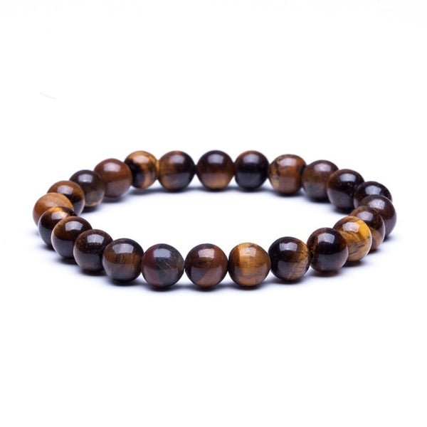 Natural Stone Beaded Stretchable Bracelets - Dazzled Jewels