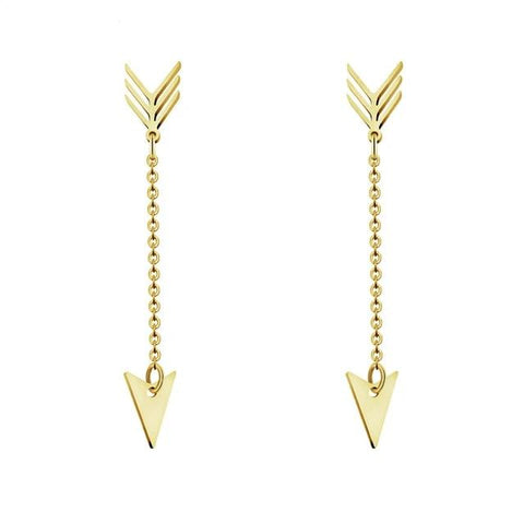 Minimalist Chain Arrow Earrings - Dazzled Jewels Fashion Jewelry and Accessories