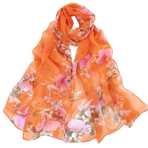 Women Chiffon Summer Scarves - Dazzled Jewels