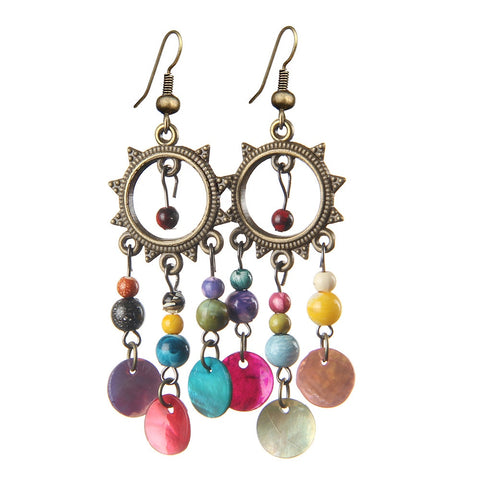 Bohemian Statement Earrings - Dazzled Jewels Fashion Jewelry and Accessories