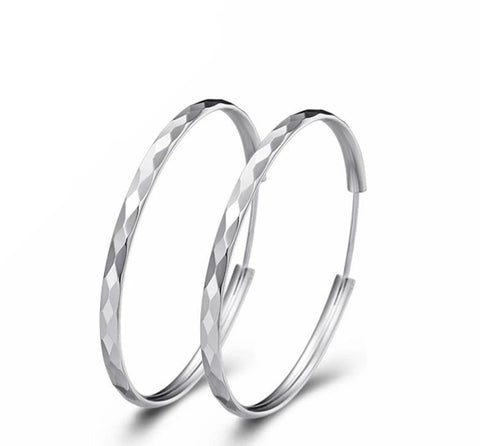 Silver Plated Hoop Earrings - Dazzled Jewels Fashion Jewelry and Accessories