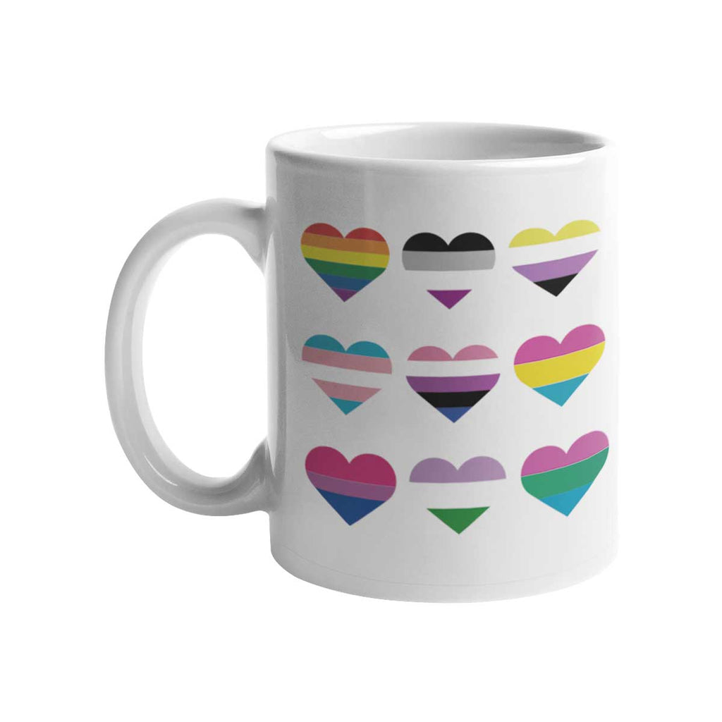 Caneca Heart Flags