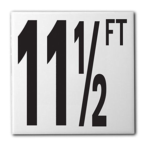 "Ceramic Swimming Pool Waterline Depth Marker ""11 1/2 FT"" Smooth Finish, 5 inch Font"
