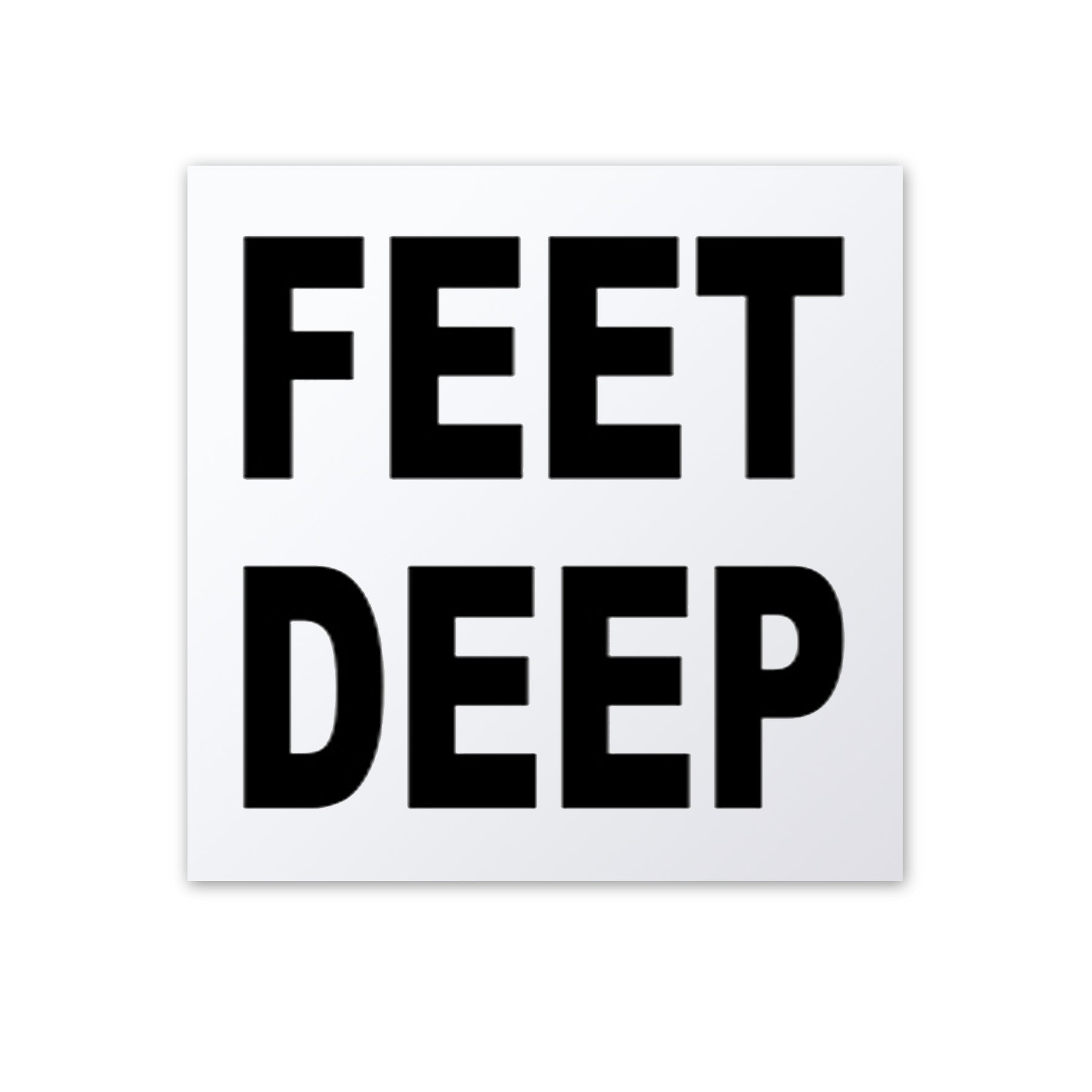 "Ceramic Swimming Pool Depth Marker ""Feet Deep"" Smooth Finish 5 Inch Font"