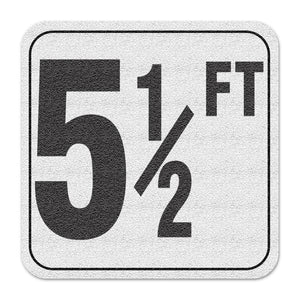 "Vinyl Depth Marker Decal 6X6 ""5 1/2FT"" 4 inch font Abrasive Non Slip Finish"