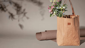 Sustainable vegan washable cute tote bag with flowers