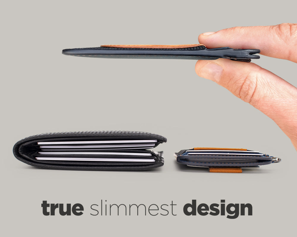 Slim and Bulky wallet comparison