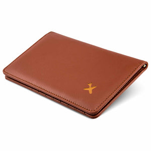 Travel wallet brown bifold design passport cover